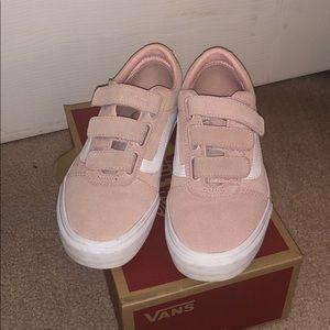 Vans Shoes   Vans Velcro Pink Sneaker